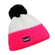Müts Lawi roosa/valge
